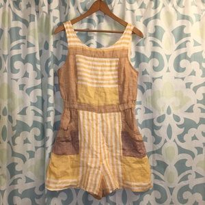 Ett:twa by Anthropologie Linen Romper